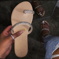 Desert Sand Bling strapped sandals