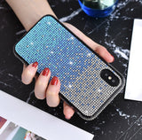 Falling Stars bling cellphone case - Blue