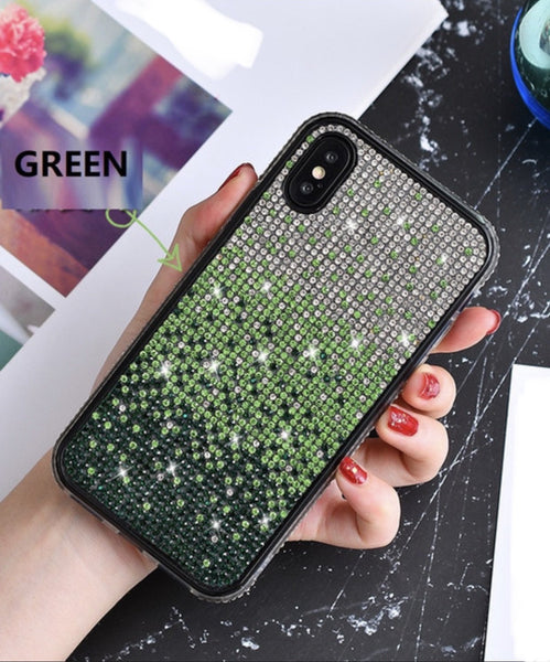 Falling Stars bling cellphone case - Green