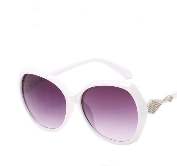 Retro Sunnies sunglasses - (White and Pink)