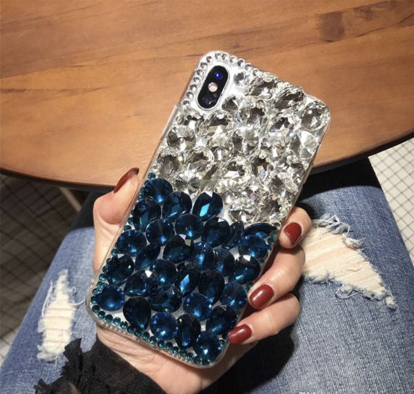 Rock Star two-toned cellphone case (Blue/clear)