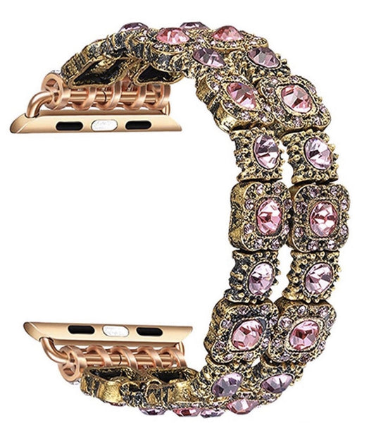The Queens Bling watch band - (Pink and Rose Gold)
