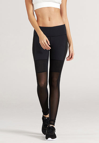 Chloe Black Mesh Capri Tight - Ankle Length