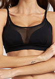 Norah Black Yoga Bra with Mesh Front