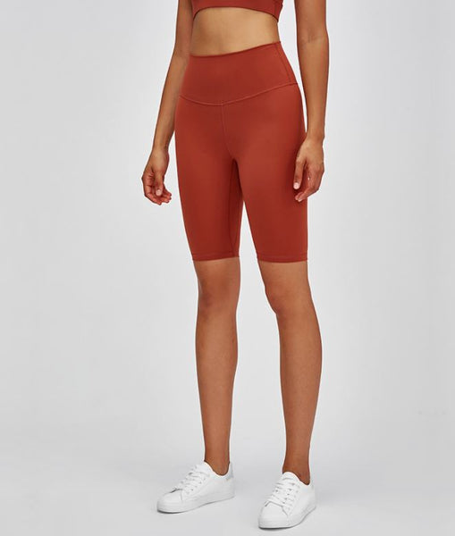 Burnt Orange Biker Shorts