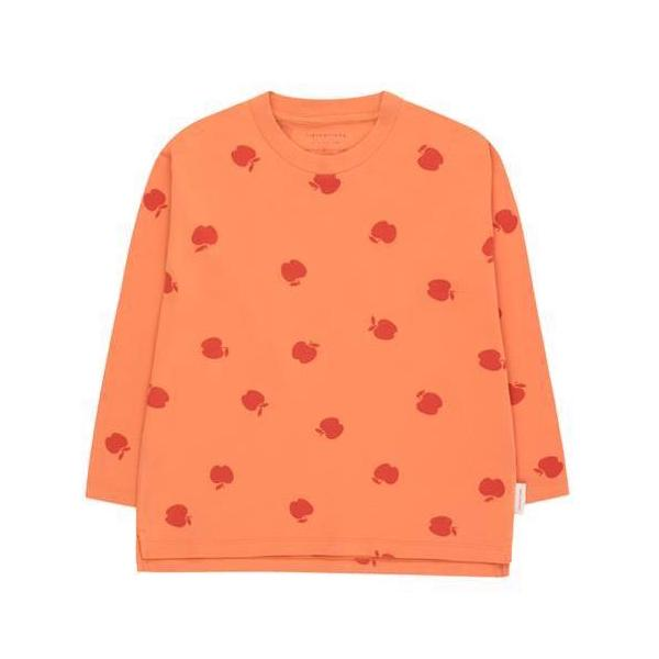 Apples LS Tee - Coral
