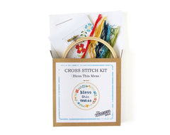 The Stranded Stitch - Bless This Mess Cross Stitch Kit