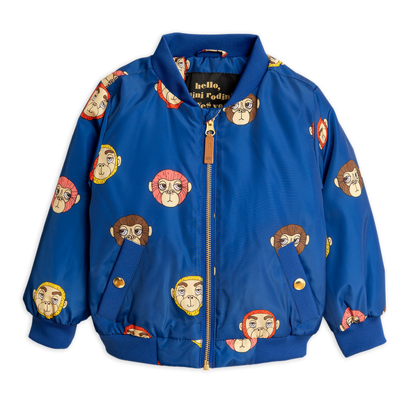 Monkey Baseball Jacket - Blue