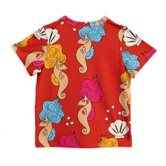 Seahorse SS Tee - Red