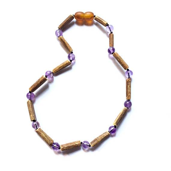 Genuine Hazelwood +  Amethyst Necklace