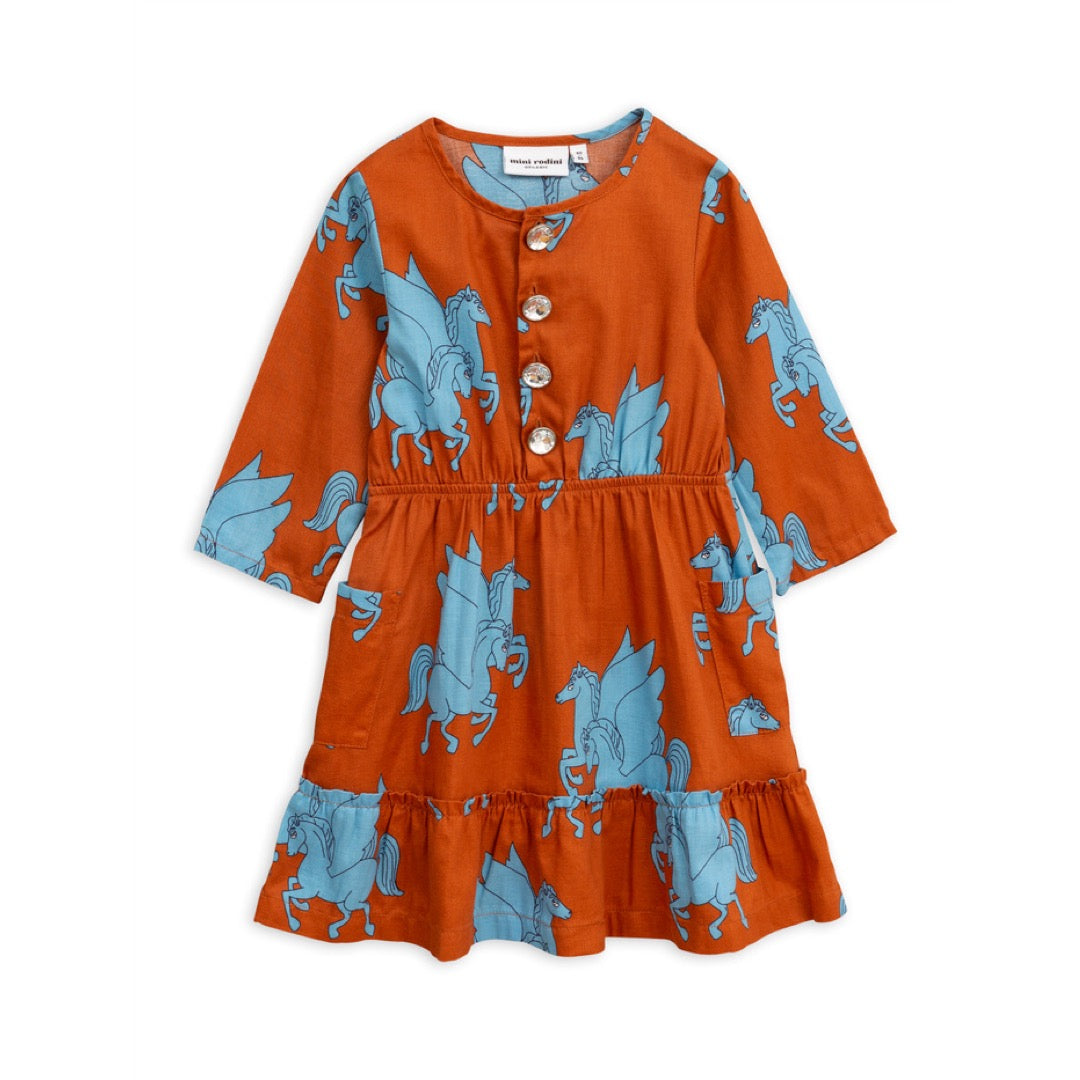 Pegasus Flounce Dress - Rust