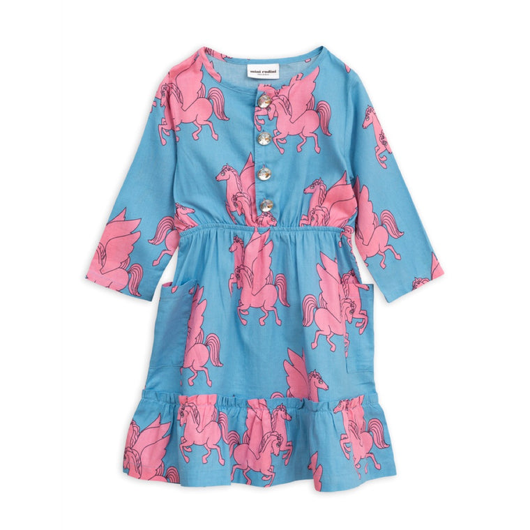 Pegasus Flounce Dress - Blue