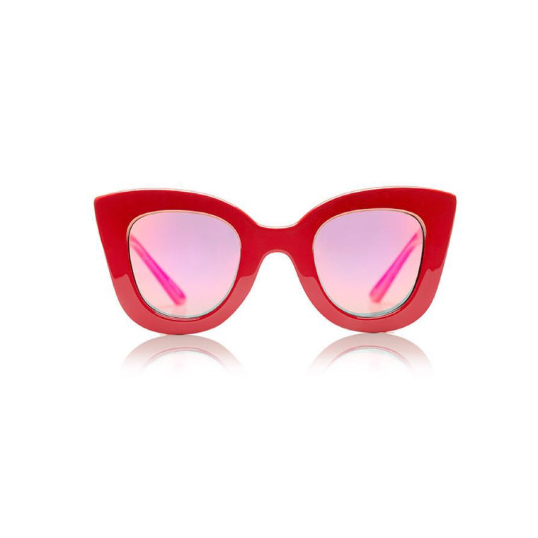 Cat Cat Sunglasses - Red w/Red Revo Lens