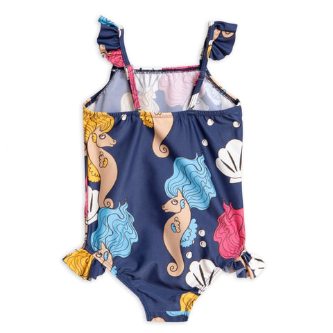 Seahorse Wing Swimsuit - Navy