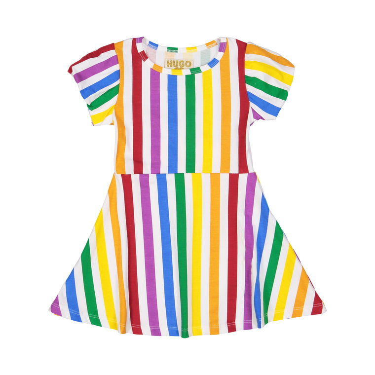 Stripe Skater Dress - Rainbow