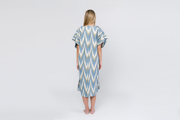 Hospital Gown - Blue Willow