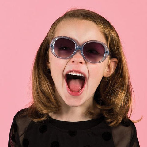Jackie Children's Sunglasses (Blue Glitter)