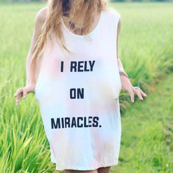 I Rely On Miracles Tank Top