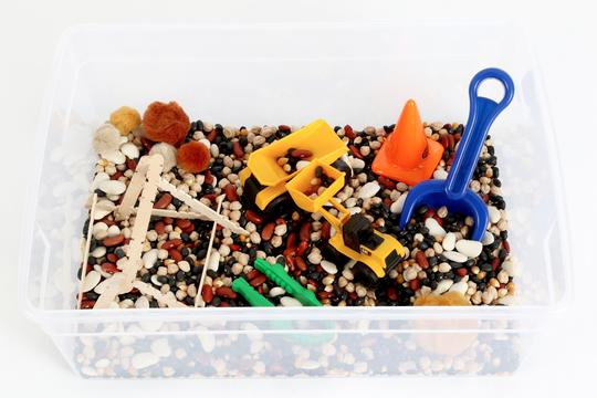 Messy Play Kits - Construction Sensory Bin