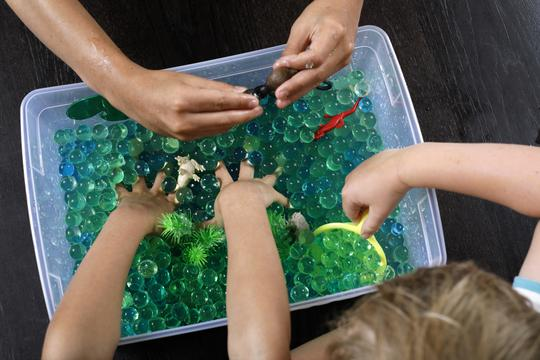 Messy Play Kits - River Sensory Bin