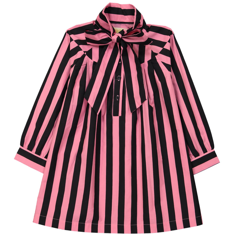 Pink/Black Stripe Dress