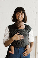Charcoal Swiss Dot - Solly Baby Wrap