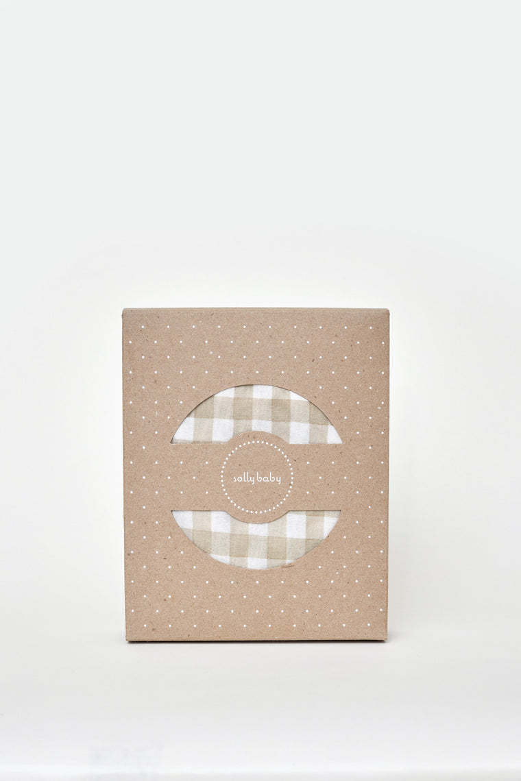 Creamy Gingham - Solly Baby Wrap