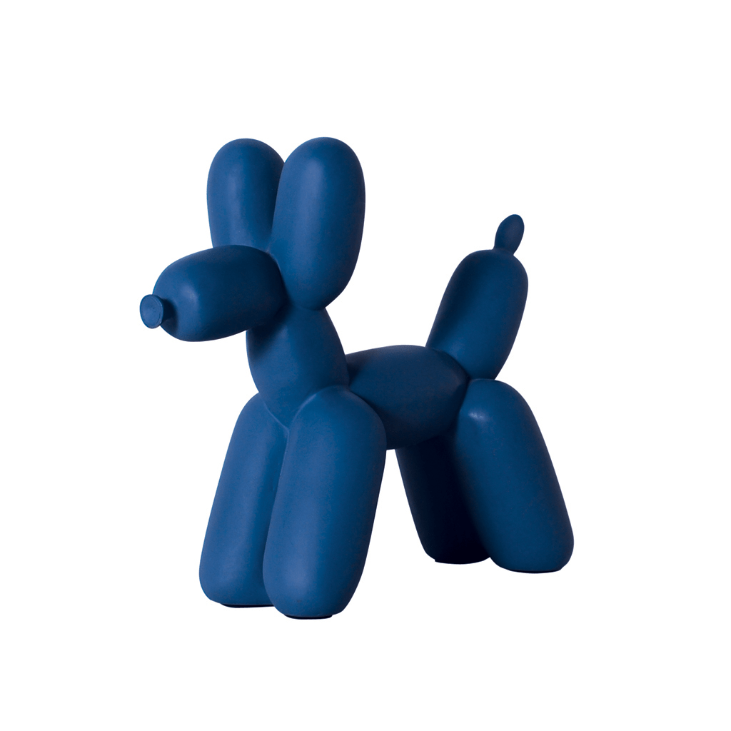 Big Top Balloon Dog Ceramic Bookend- Electric Blue