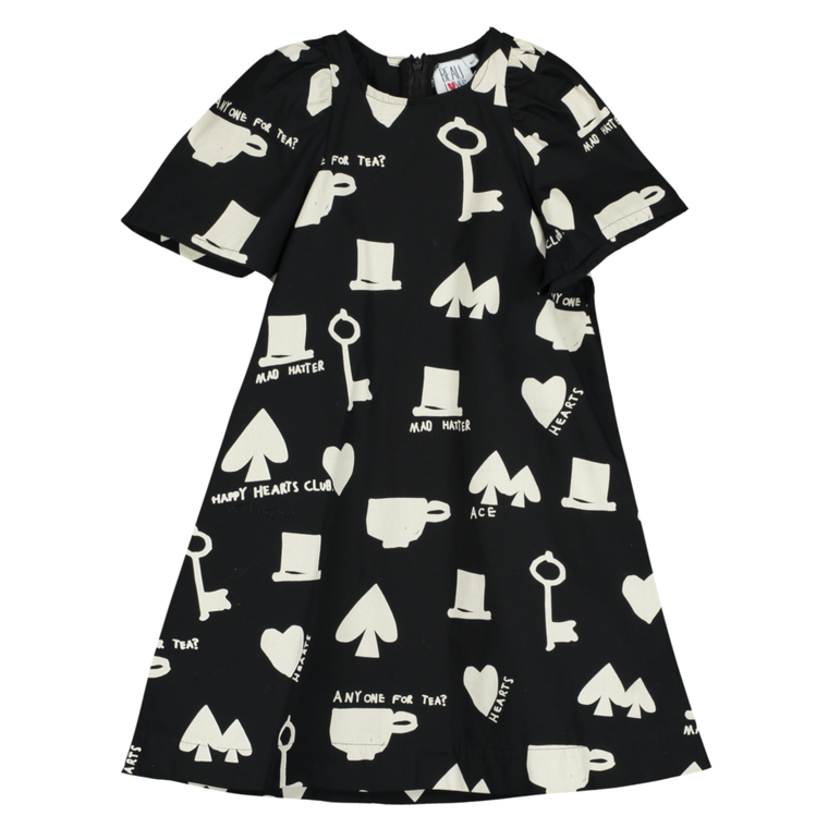 Wonderland Cotton Dress - Black
