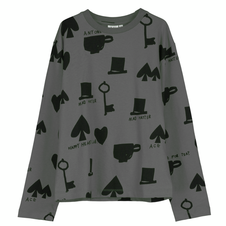 Wonderland LS Shirt - Charcoal