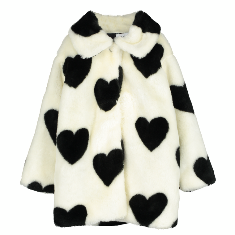 Hearts Faux Fur Jacket