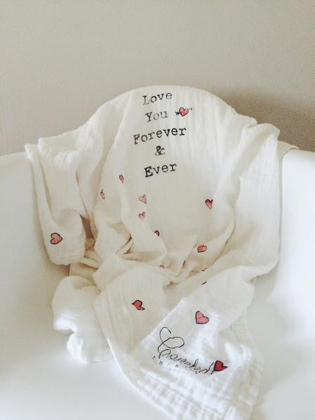 Love You Forever & Ever Organic Swaddle Scarf