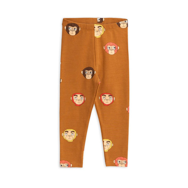 Monkey Leggings - Brown