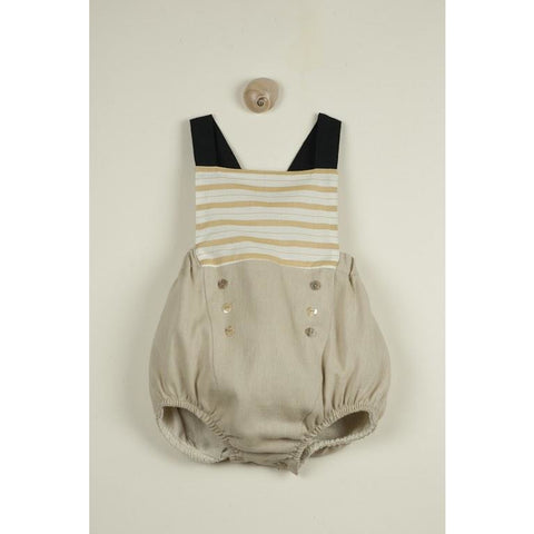 Sailor Dungarees: Ochre Stripe