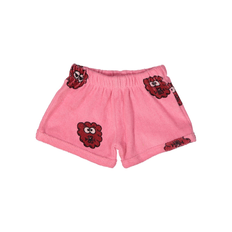 Raspberry Terry Shorties - Pink