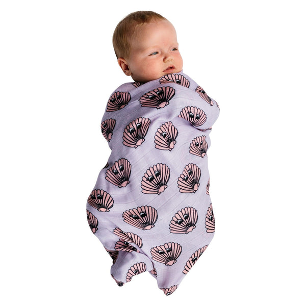 Clams Bamboo Baby Swaddle