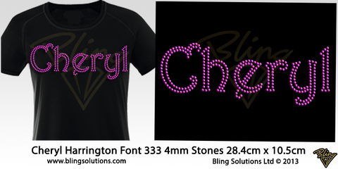 Cheryl (Harrington Font)