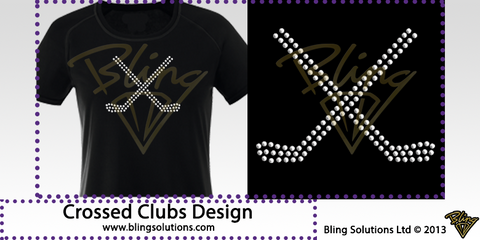 Hockey Sticks or Crossed Clubs Design
