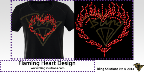 Flaming Heart Design