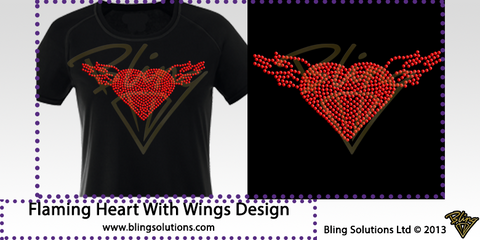 Heart with Wings Design