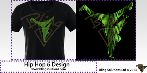 Hip Hop Dancer (Filled) Design