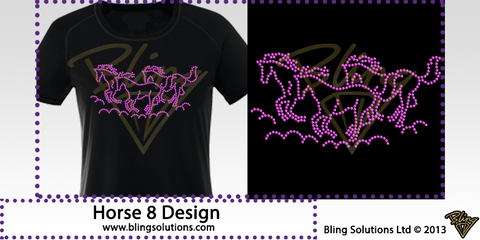 3 Horses Galloping Design