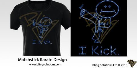 Matchstick I Karate Kick Design
