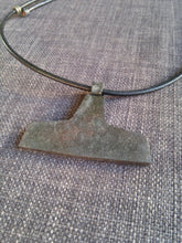 Larg Thors hammer mjolnir pendant necklace hand forged iron pagan