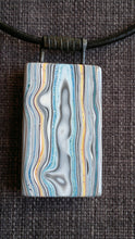 large double sided statement pendant necklace fordite / detroit agate