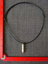 Paris peace symbol Tricolore real bullet necklace