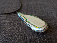 statement pendant necklace fordite / detroit agate cabochon
