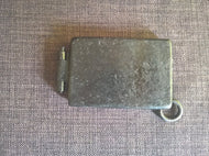 wallet pocket tin steampunk dieselpunk goth heavy metal post apocalyptic