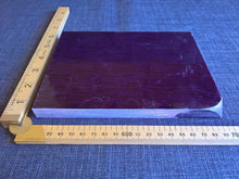 large Micarta knife scales purple and grey wool handmade handle