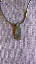 Native American inlaid silver pendant necklace hand forged iron pagan